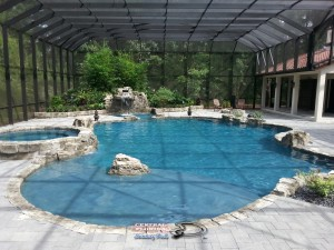 Pool and Spa w/rock